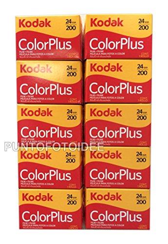 10 Rullini Kodak Color Plus 35mm 200/24 - Conf. da 10 pz. - Pellicola - Rullino - Fotografia