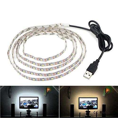 CHIGANT - Kit di Nastro LED RGB Light Strip Flessibile Decorazione Camera TV Lavagna Specchio con...