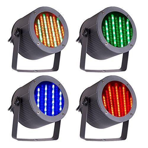 CO-Z 86 RGB LED Bühnenbeleuchtung Bühnenlicht Bühnenlampe LED Par Licht DMX512 Lichteffekt Stage Light für DJ, Disko, Bar, Party, Hochzeit 86 LED 4 Stück