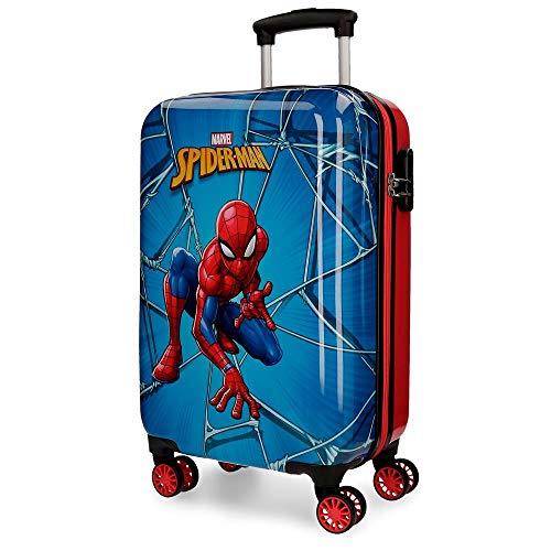 Marvel Spiderman Black Valigia per bambini 55 centimeters 37.4 Multicolore (Multicolor)