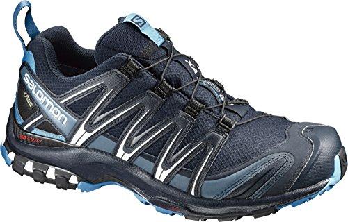 Salomon Herren XA Pro 3D GTX, Trailrunning-Schuhe, Wasserdicht, Dunkelblau (Navy Blazer/Hawaiian Ocean/Dawn Blue), Größe: 44