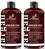 Art Naturals Organic Moroccan Argan Oil Shampoo and Conditioner Set (2 x 473 ml) - Sulfate Free - Volumizing & Moisturizing, Gentle on Curly & Color Treated Hair,For Men & Women Infused with Keratin