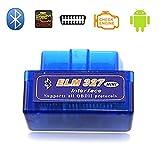 Ccsfrgtrh ELM 327 Interface de diagnostic OBD2 Bluetooth compatible avec les appareils Android V2.1