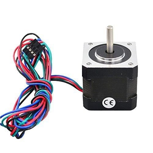 Nema 17 Stepper Motor Bipolar 2A 59Ncm(84oz.in) 48mm Body 4-lead W/ 1m Cable and Connector for 3D Printer/CNC by STEPPERONLINE