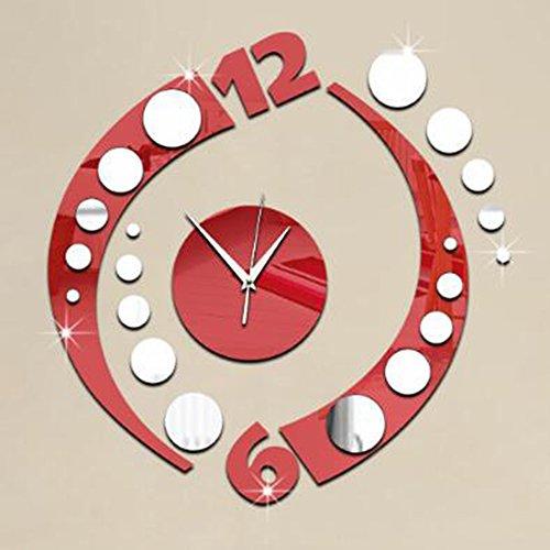 Clock Orologio da Parete Orologio da Parete con Specchio Specchio Decorazioni da Parete Adesivo...