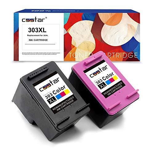 CSSTAR Rigenerate Cartucce d'inchiostro Compatibili per HP 303 XL 303XL Value Pack per Envy Photo...