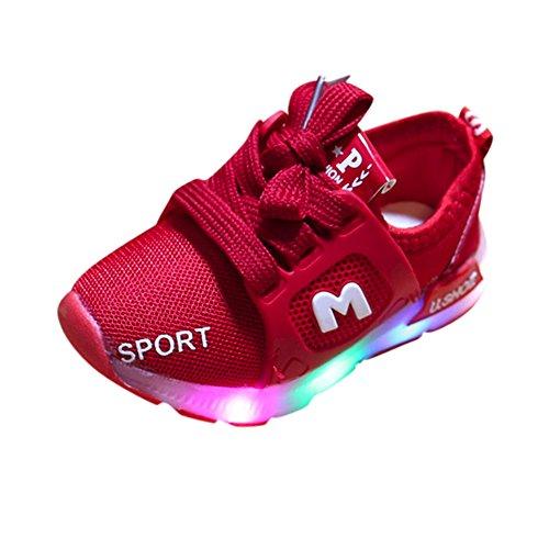 Honestyi_Scarpine neonato 6 Mesi - 6 Anni Scarpe Bambino LED con Luci Bright Light Sportive Cuasal Outdoor Scarpe Stivali Lampeggiante Bambini Ragazze Ragazzi