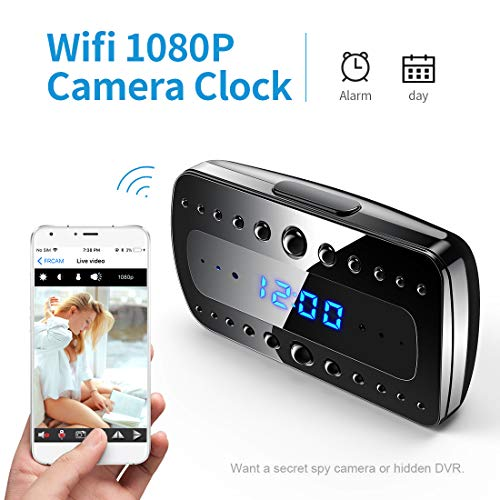 FREDI 1080P WIFI telecamera Spia Orologio-sveglia HD videocamera nascosta Mini Microcamere telecamera di sorveglianza Videocamera di Sicurezza Wireless ip camera Interno Spy Cam WIFI Fotocamera