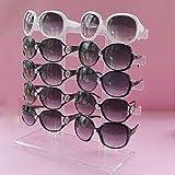kimberleystore Supporto del basamento di esposizione degli occhiali da sole degli occhiali da sole del rack degli occhiali da sole di modo