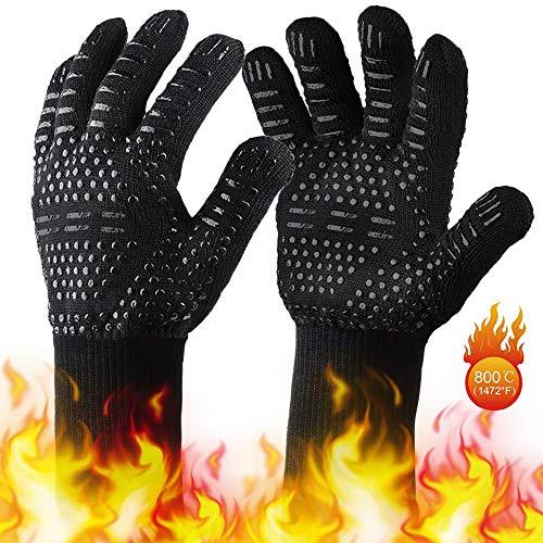 Guanti Cucina, Guanti da Forno Antiscivolo Professional Resistenza al Calore Fino a 800°C/1472 °F....