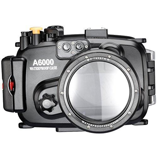 Neewer 40m 130ft Wasser PC Gehäusekamera Unterwassergehäuse für Sony A6000 mit 16-50mm Objektiv
