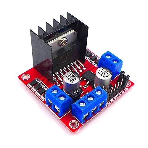 JZK Doppio ponti H 25w 2v L298N DC motori motore passo passo bipolare per Arduino Raspberry Pi robot auto intelligente, motore step stepper modulo motore scheda driver pannello di controllo Questo modulo utilizza L298N come chip principale pi...