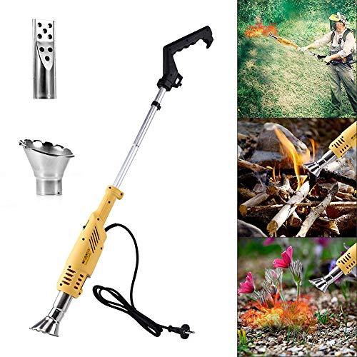 ZSLGOGO Quemador de Herbicidas de malezas, Quemador de Malas Hierbas Eléctricas, Herbicida térmico eléctrico para jardín, Patio, Entrada de Garaje - 2000W / 230V, hasta 650 ° C