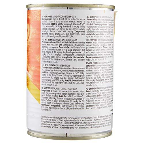 Almo Nature Daily Lot de 24 boîtes de 400 g pour Chat sans céréales avec Poulet 10