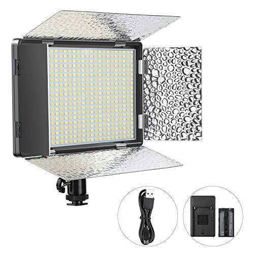 ENEGON Pannello Luminoso 520 luci LED con batteria ricaricabile 4000mAh, Caricabatterie, Accessorio...
