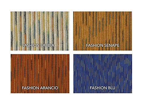 BIANCHERIAWEB Copridivano Angolare Fashion L.T 6 Posti Arancio