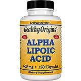 Healthy Origins, Acide alpha lipoïque, 600 mg, 150 Capsules