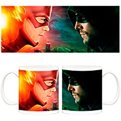 Taza The Flash Arrow crossover series CW