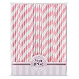 Talking Tables Pink-n-Mix Paper Straws, Pack of 30