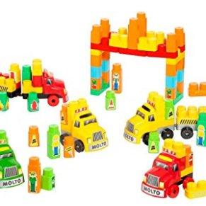 M MOLTO Juego de Bloques City Trucks Blocks 200pcs