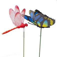 Double-Wings-20pcs-Butterfly-Stakes-4pcs-Dragonfly-Stakes-3D-Outdoor-Yard-Planter-Flower-Pot-Bed-Home-Garden-Decor-Multicolour-Butterflies-Halloween-Christmas-Decorations