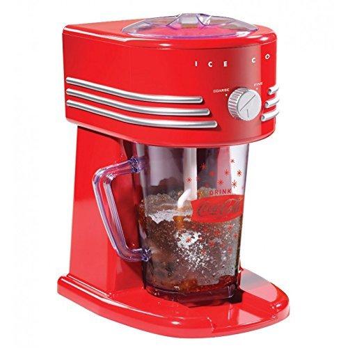 Simeo CC145 Built-in/freestanding ice cube maker 15W Rosso, Argento macchina per cubetti di ghiaccio