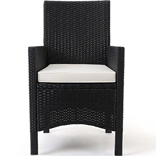 Polyrattan Sitzgruppe 8+1 Tisch aus Akazienholz Gartenmöbel Lounge Gartenset Sitzgarnitur Rattan - 2