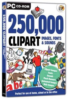 Gsp 250,000 Clipart Images & Fonts [import anglais]