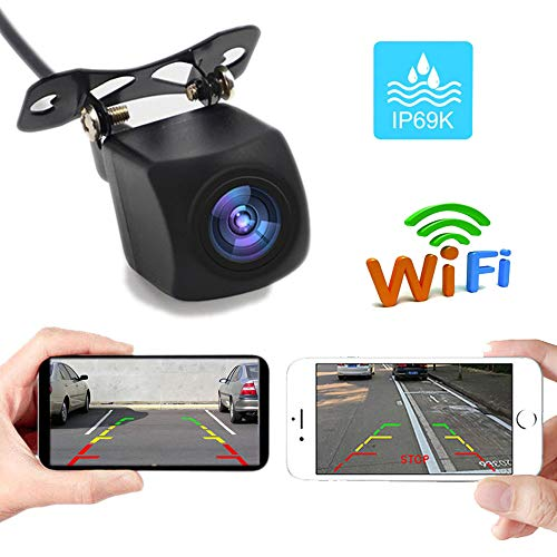 PolarLander 12V WiFi Telecamera retromarcia Dash Cam Star Night Vision Car Telecamera Posteriore Mini Corpo Tachigrafo Impermeabile per iPhone e Android