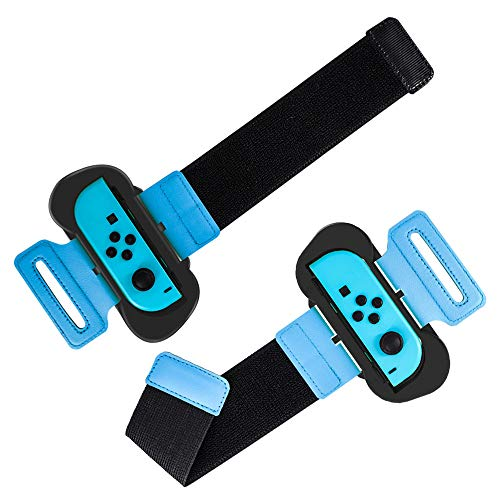 Flytise 2Pcs Wristband Compatibile con Nintendo Switch Joy-con Fascia da Polso Regolabile con Chiusura in Nylon Compatibile con Just Dance