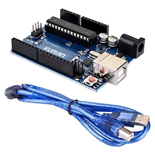 51R3QJQAWXL - kuman Profesional Impresora 3D CNC Kit para Arduino, GRBL CNC Shield con R3 Board + RAMPS 1.4 Interruptor Mecánico Tope + DRV8825 GRBL Motor Paso a Paso Controlador de Calor + Nema 17 KB02