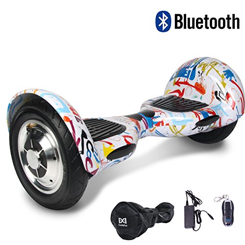 Cool&Fun 10' Smart Monopattino Elettrico Scooter con Due Ruote 10', con Bluetooth (Graffiti)