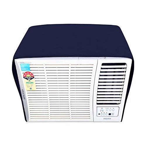 Dream Care Navyblue Colored Window AC Cover for Haier HW-09CA2 AC 0.8 Ton 2 Star Rating