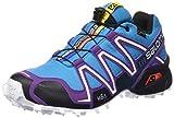 Salomon Damen Speedcross 3 Gtx Trail Runnins Sneakers, Bleu-Azul (Scuba Blue / Cosmic Purple / Black), 38 2/3 EU