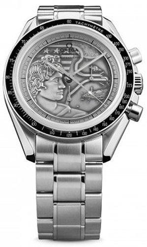 Omega Speedmaster Apollo XVII Silber Geprägte Zifferblatt Edelstahl Herren Armbanduhr 311.30.42.30.99.002von Omega