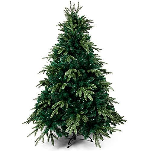 OZAVO Albero di Natale Artificiale Verde 150 cm,950 Rami,PVC Ago di Pino Effetto Realistico,Decorazione di Natale,Base Metallica
