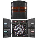DARTS Profi Dartspiel, Dartboard, Elektronische Dartscheibe - 27 Spiele mit 159 Spieloptionen, 12 Soft Pfeile und 100 Ersatzspitzen, LED Anzeige