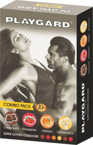 Playgard More Play Combo Pack of Super Dotted Condoms - (Pack of 5)