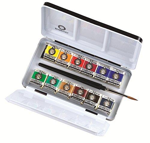 caja metálica acuarelas rembrandt