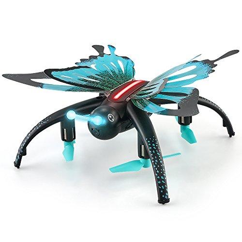 ZMH RC Animale Farfalla Drone WiFi FPV 0.3 MP Fotocamera Drone RC Quadcopter Mini RC Selfie droni...