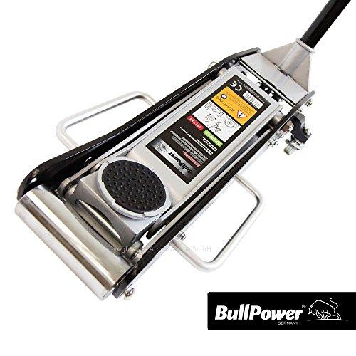 BullPower BP6925S Aluminium Wagenheber 2500kg 2,5T - 85mm - 440mm mit Quicklift für Racing-Sportwagen, Rennsport