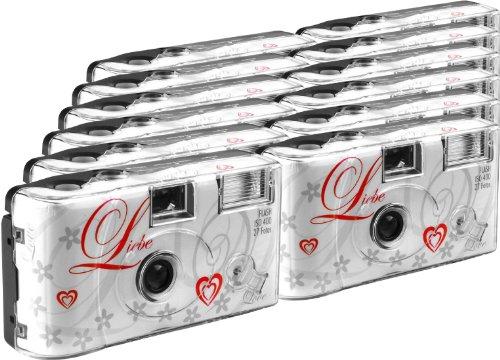 TopShot Lot de 12 appareils photo jetables pour 27 photos avec flash...