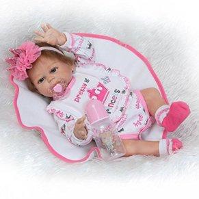 iCradle Reborn Baby Dolls 20 Pulgadas 50cm Muñecas Reborn Cuerpo Entero Silicona Realista Suave de Vinilo Lifelike Chica and Chico Bebé Reborn Niña Nacido Regalo de Juguete (Girl)