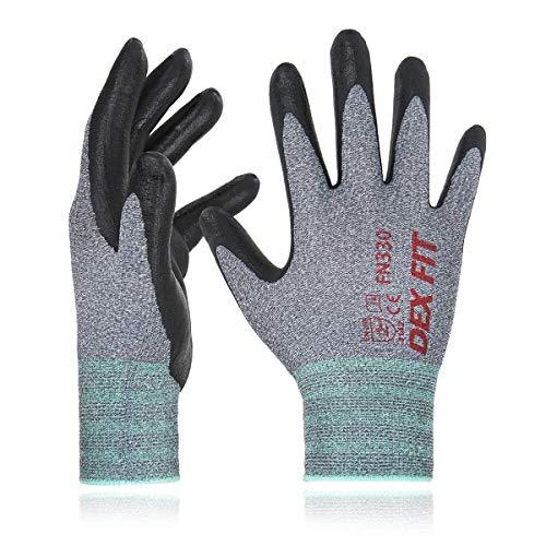 DEX FIT Guanti da lavoro FN330, 3D Comfort Stretch Fit, Power Grip, Schiuma di nitrile Durable,...