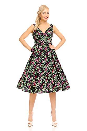 4a91e944c Looking Glam Mujer Retro Vintage Rockabilly pin- Up Vestido Con Vuelo  Mariposa Vestido de flores