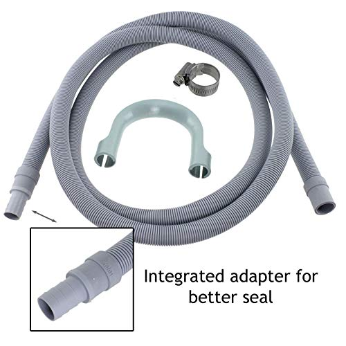 SPARES2GO - Tubo di scarico universale per lavatrice, prolunga flessibile (2,5m - 18/22mm)