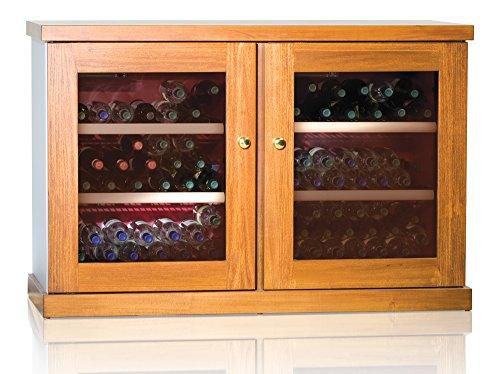 Ip Industrie - Cantinetta climatizzata legno massello 2 porte in vetro 2 celle capienza complessiva...