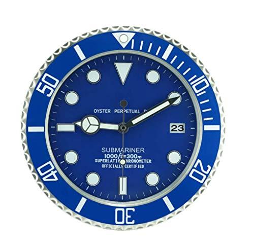 Sallypan Orologi da Parete 34Cm Metallo Design Moderno Orologio da Parete Arte Meccanismo...
