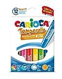 CARIOCA TEMPERELLO | 42738 - Témperas Solidas en barra, 12 Colores