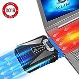 KLIM Cool Universal Raffreddatore per PC Portatile - Ventola ad Alte Prestazioni per Una Veloce Azione di Raffreddamento - Estrattore di Aria Calda USB - Blu [ Nuova Versione 2019 ]